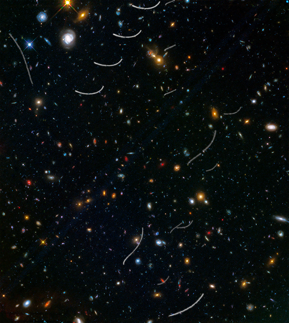 Asteroids photobombing galaxies