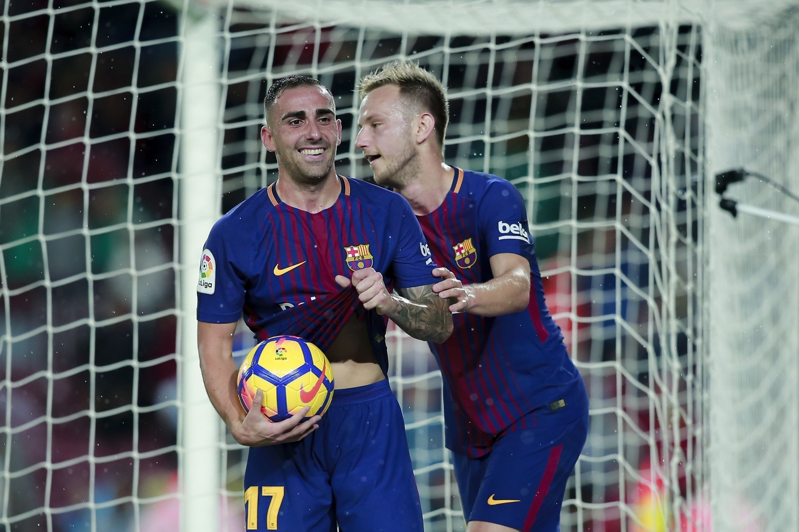 Paco Alcacer and Ivan Rakitic