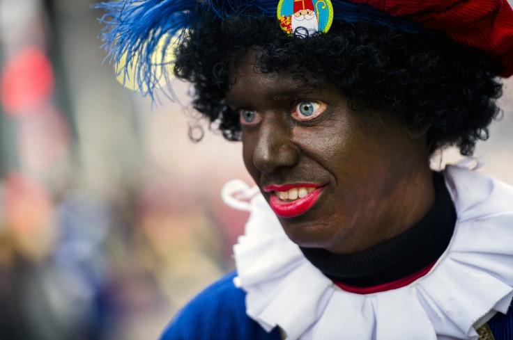 Woman dressed as Zwarte Piet