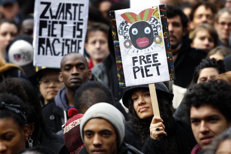 An anti-Black Pete protest
