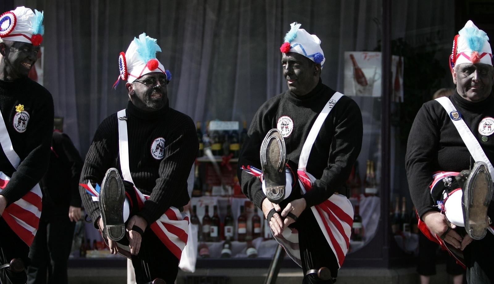 The black faced Morrismen of the Britannia Coconutters