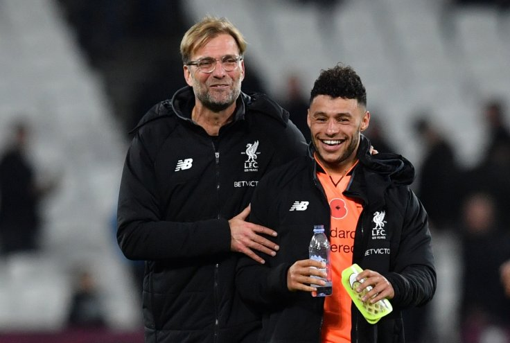 Jurgen Klopp and Alex Oxlade-Chamberlain