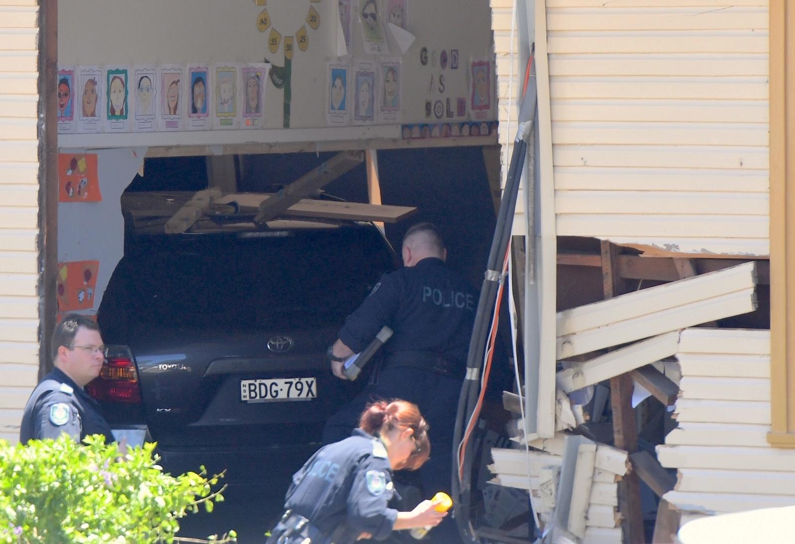 Sydney school car crash