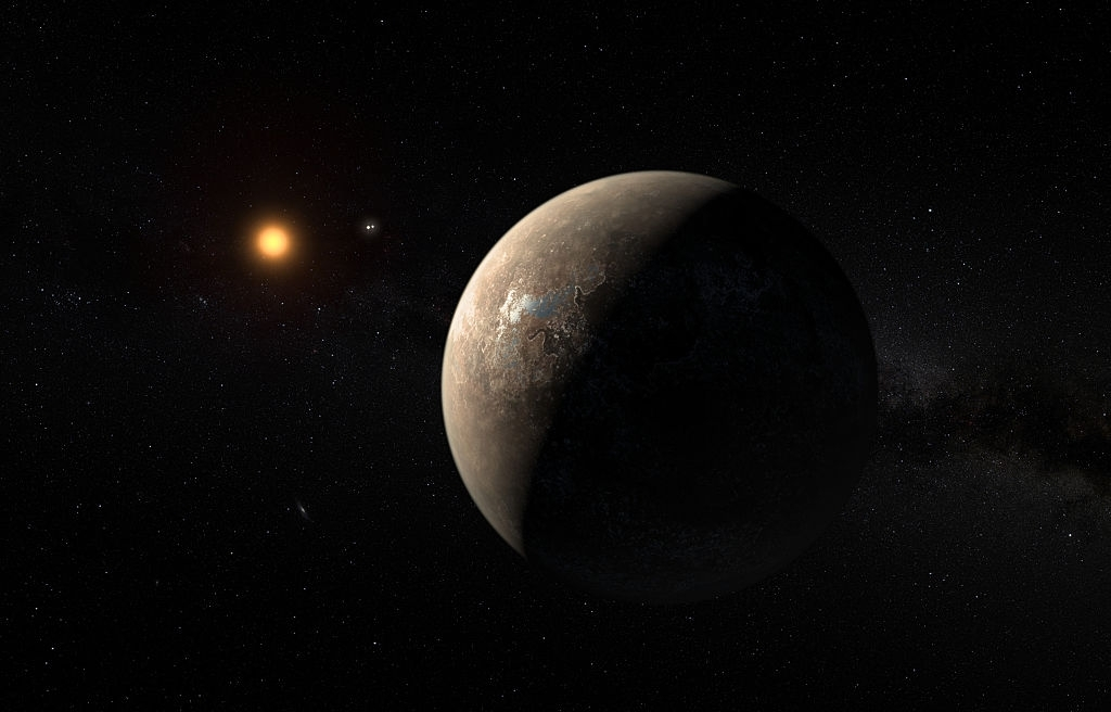 Massive exoplanet in galactic bulge