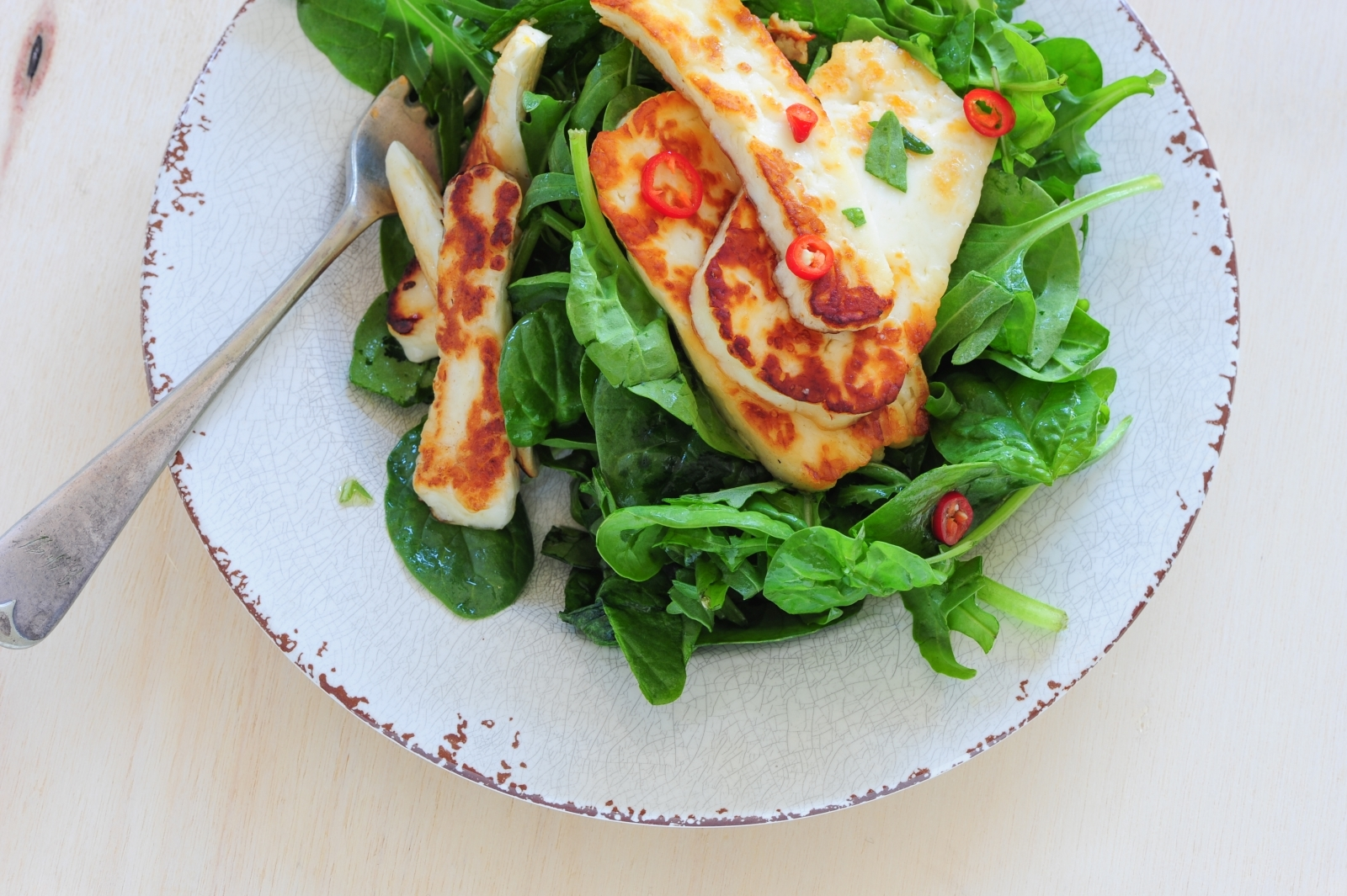 Grilled halloumi cheese