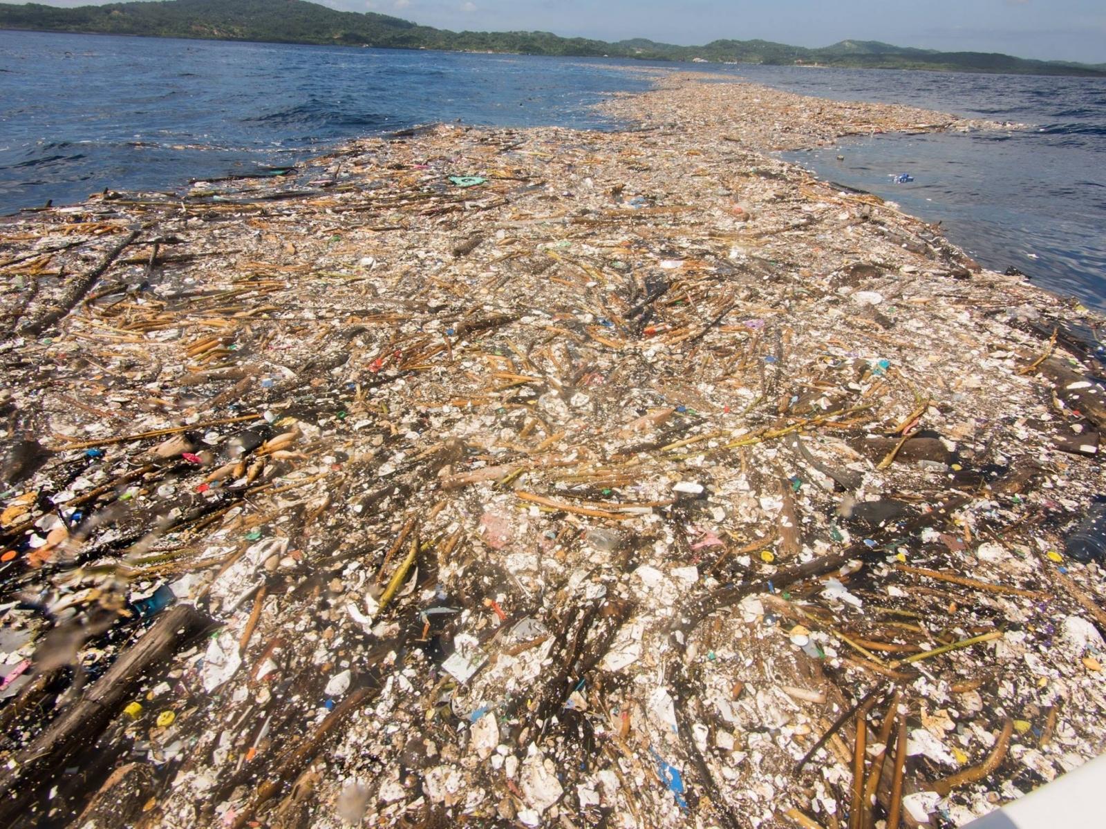 Roatan's trash island