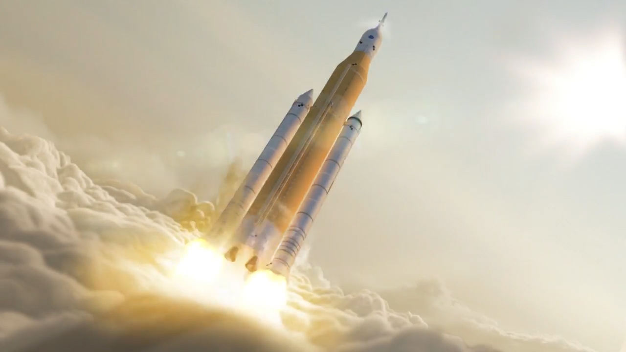 what-the-first-launch-of-nasas-mammoth-space-launch-system-might-look-like