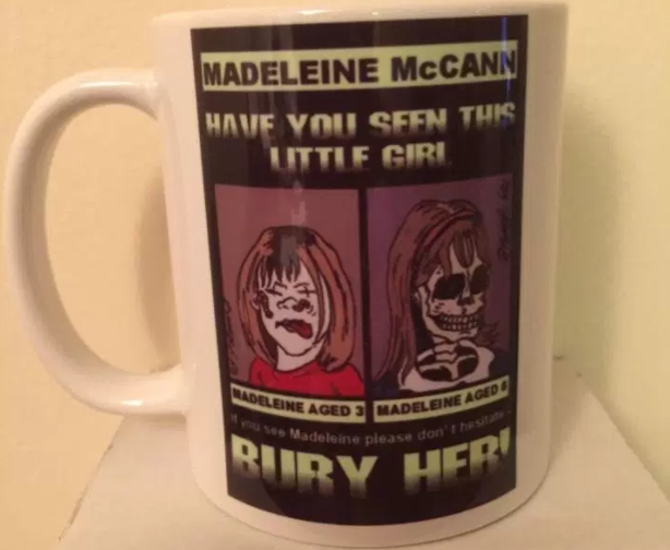 Ebay sick mug madeleine mccann
