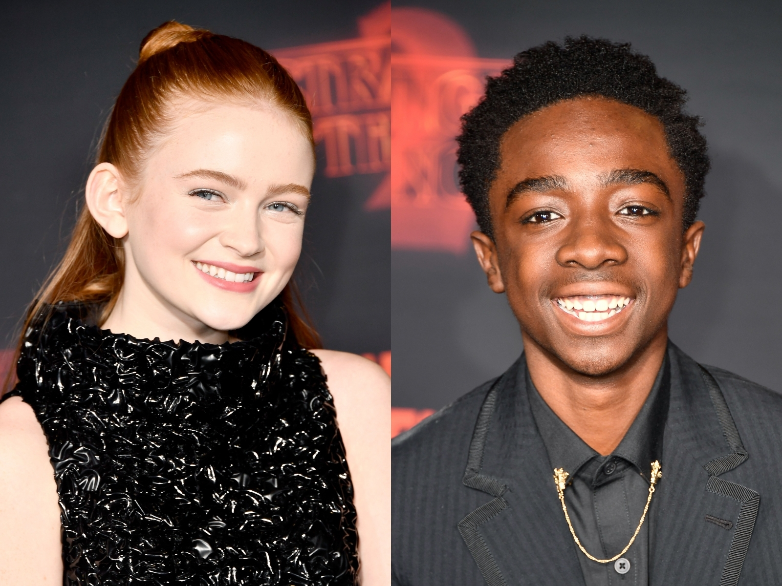 Sadie Sink and Caleb McLaughlin