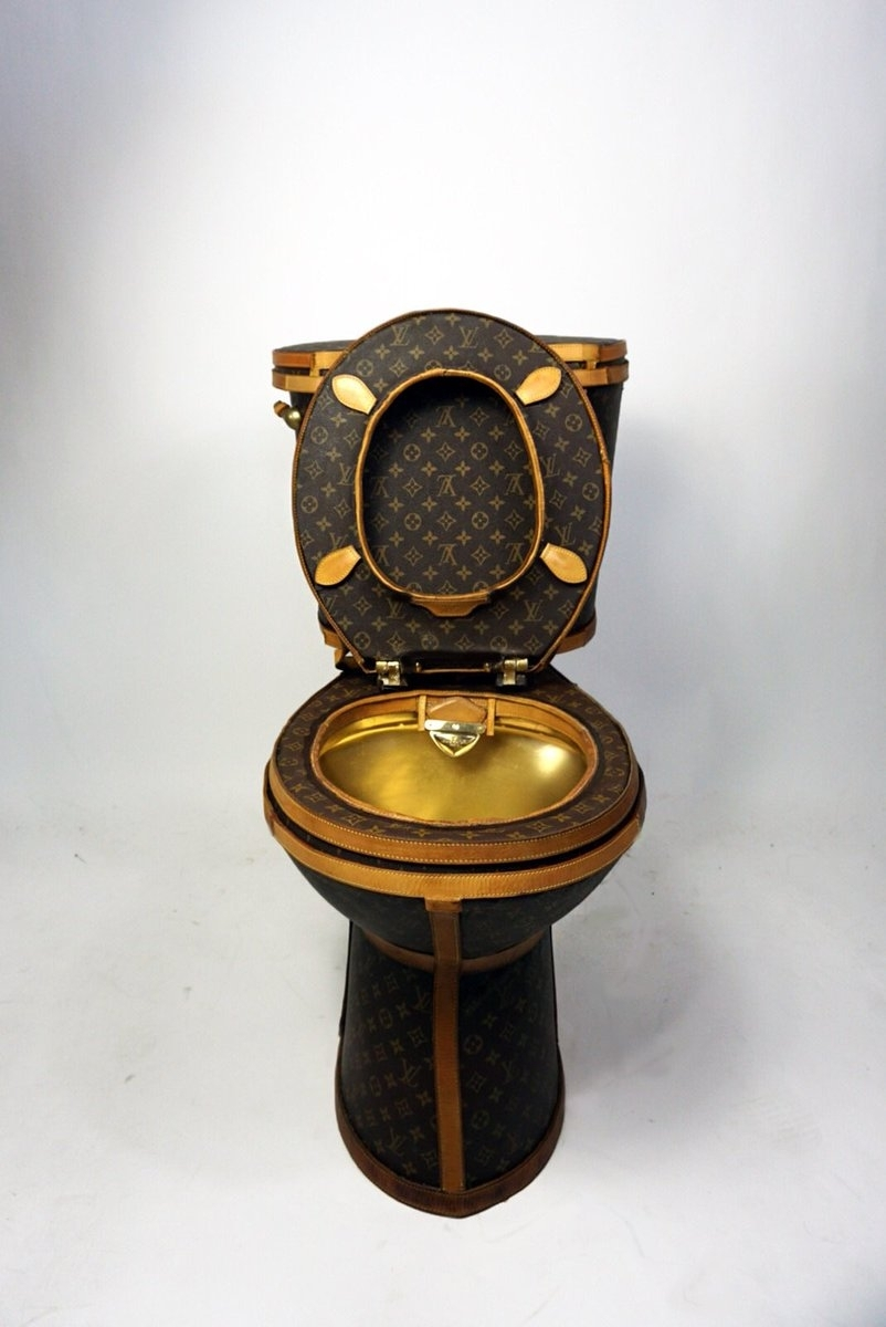 Luxury Toilet Made From Louis Vuitton Handbags Goes On