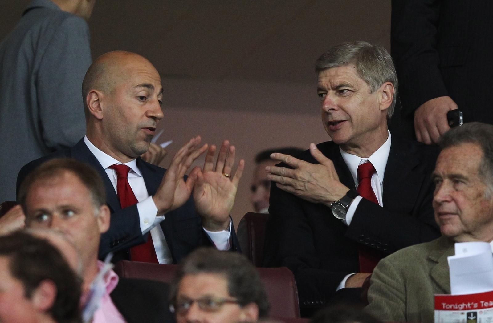 Ivan Gazidis and Arsene Wenger