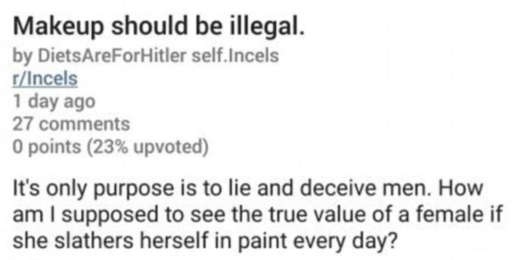 Reddit incel misogyny
