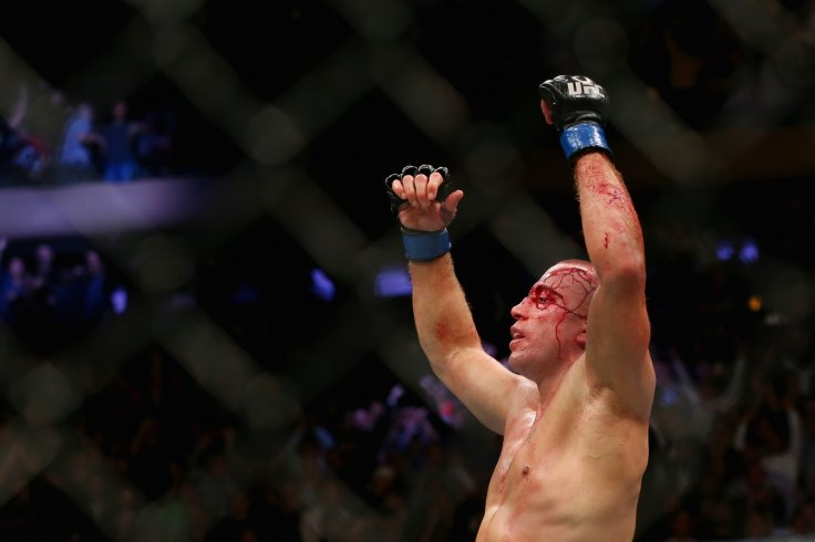 Georges St-Pierre celebrates