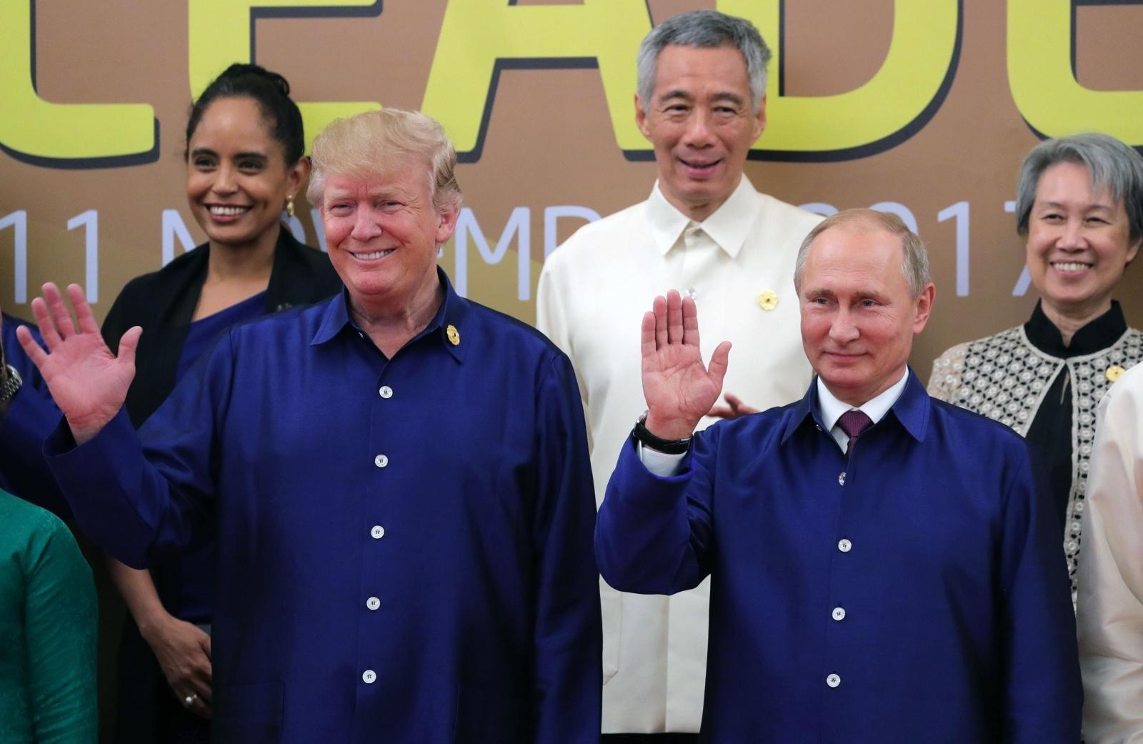 Donald Trump and Vladimir Putin at APEC