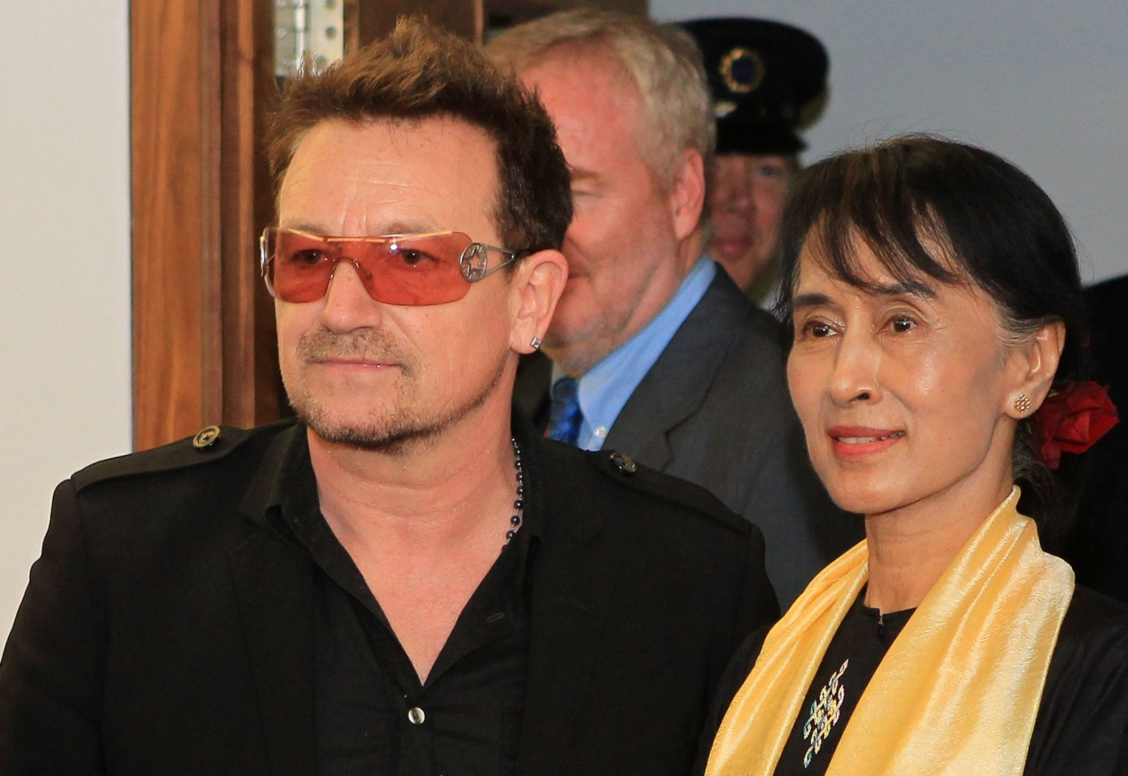 Bono and Aung San Suu Kyi