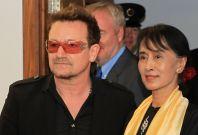 Bono and Aung San Suu Kyi