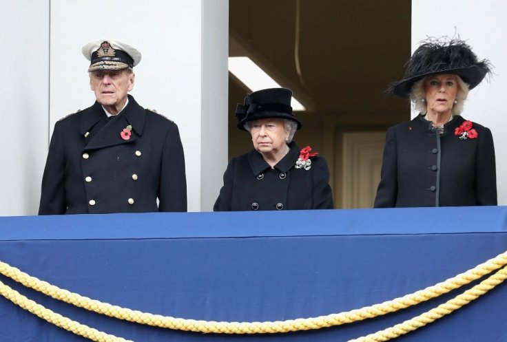Queen Elizabeth II attends Remembrance Day service