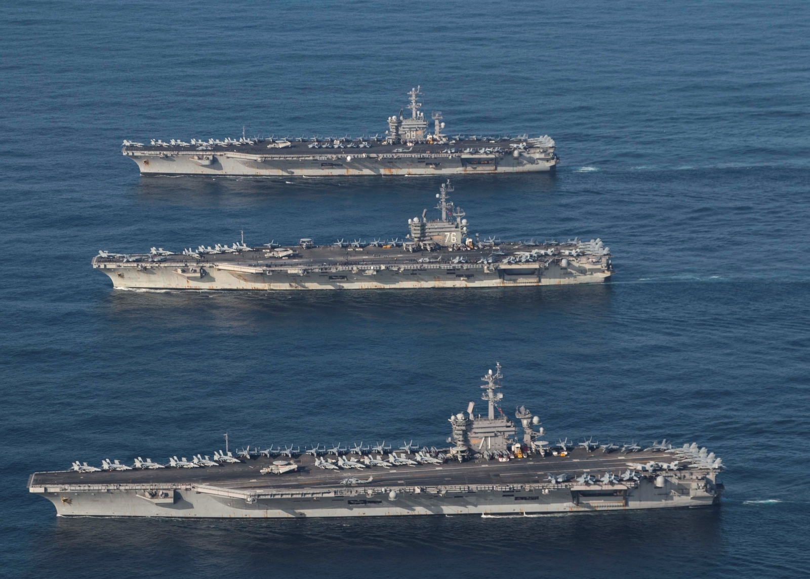 North Korea drills and US aircraft carriers