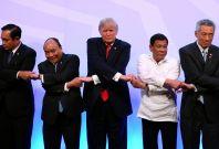 Donald Trump handshake