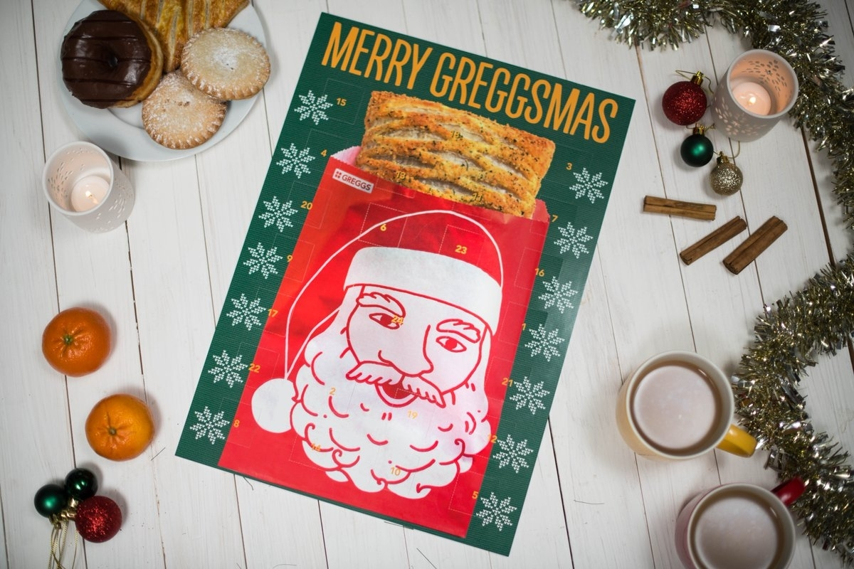 Greggs Christmas advent calendar