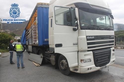 Drug smuggling truck