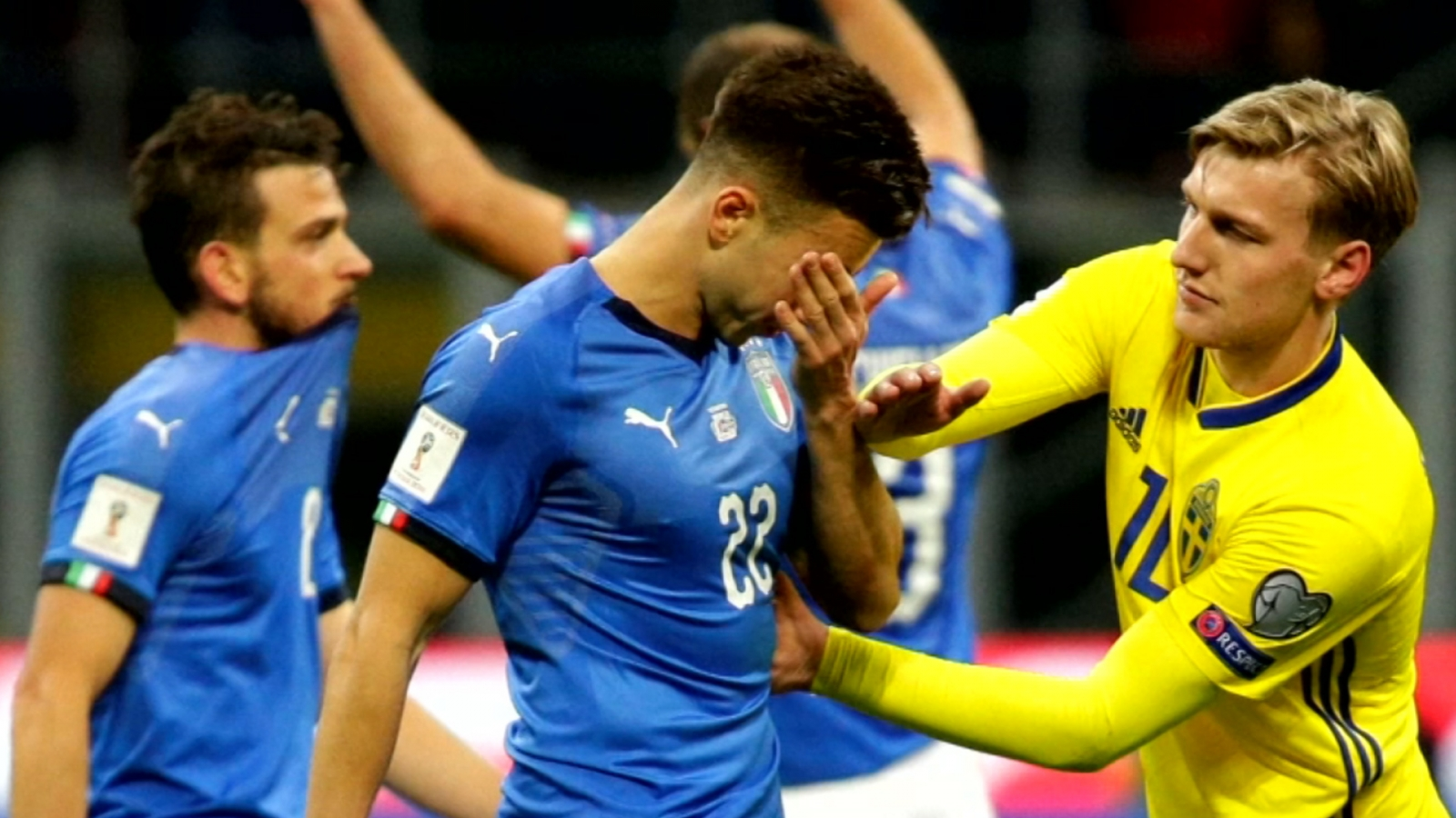 Shock and despair in Milan as Italy fail to reach 2018 World Cup