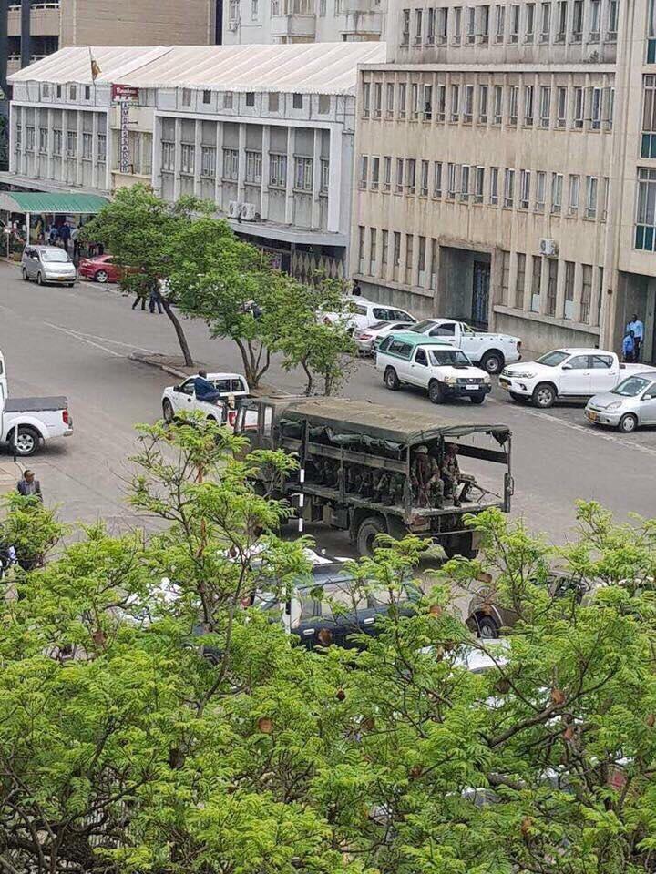 Tanks in Harare