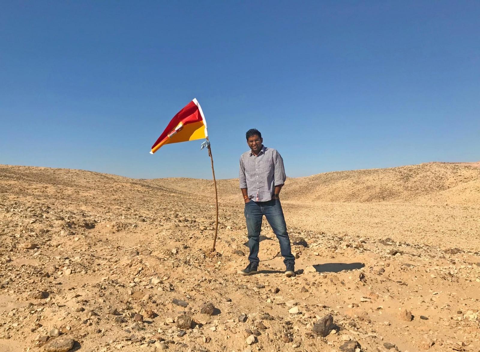 Suyash Dixit explorer in Bir Tawil