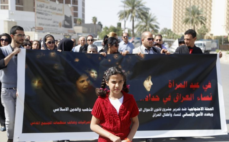 Iraq child marriage protest