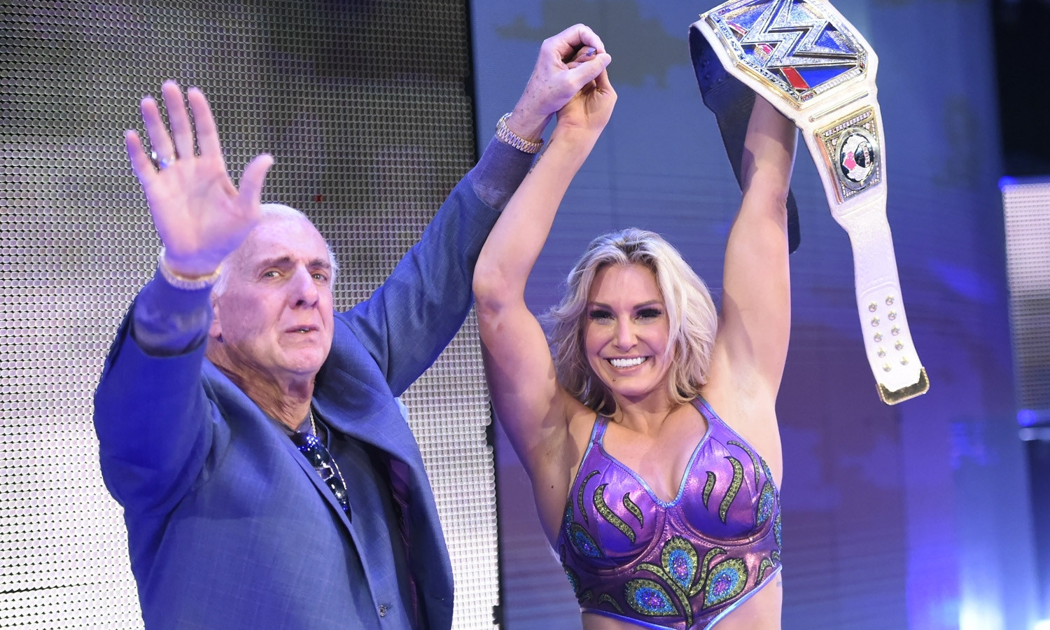 Charlotte Crowned New Women's Champion On Smackdown, Ric Flair Appears To Celebrate