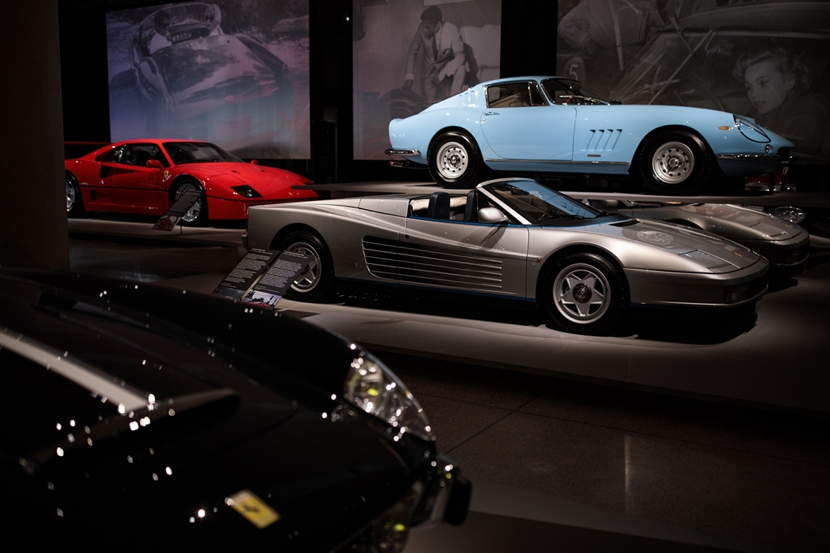 D Exhibition Uk : Ferrari under the skin cars worth £ million on show at