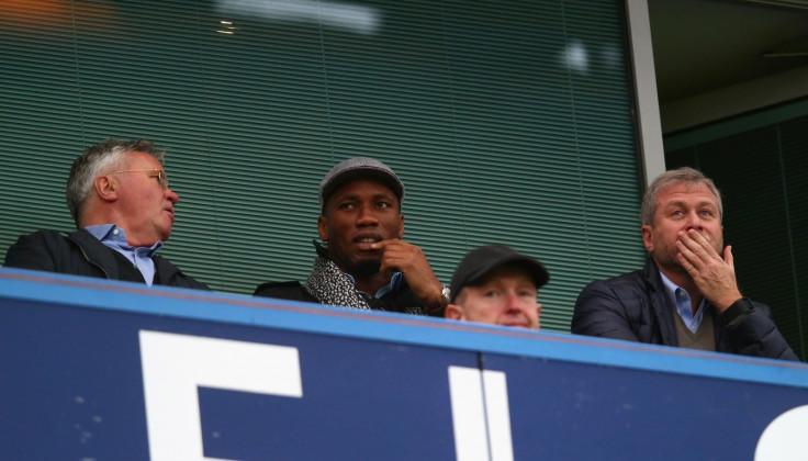 Didier Drogba and Roman Abramovich