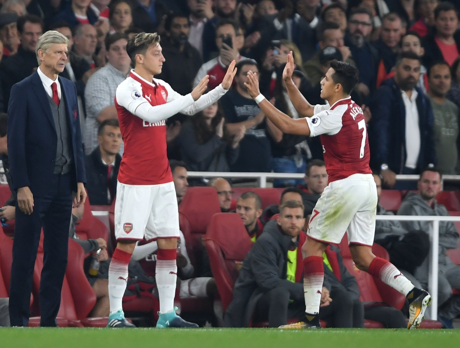 Mesut Ozil and Alexis Sanchez