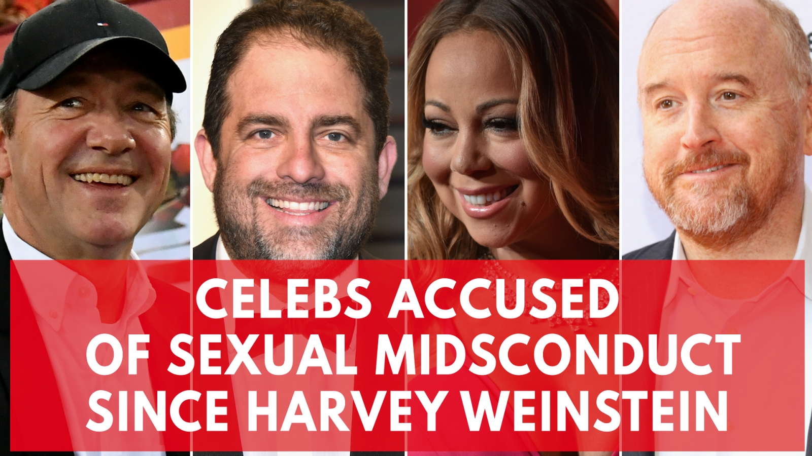 High-profile celebrities who've been accused of sexual misconduct since Harvey Weinstein