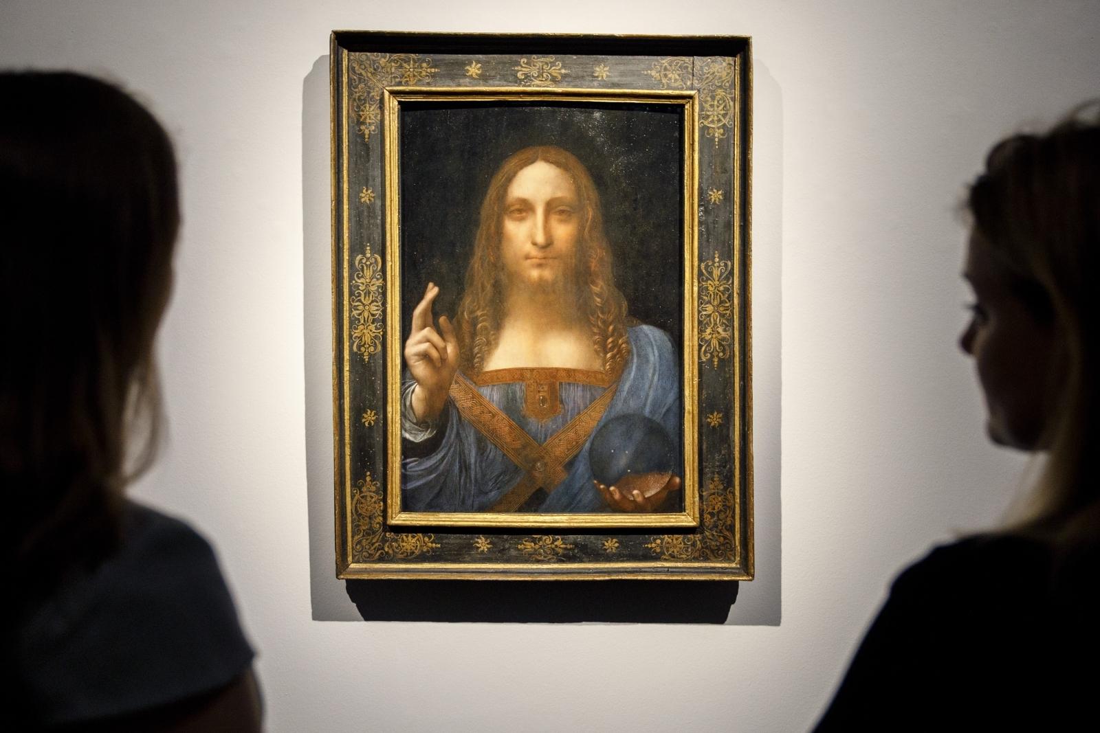 Leonardo Salvator Mundi 450m >> Leonardo da Vinci's Salvator Mundi painting bought for $60 in 1958 sells for record $450m in 2017