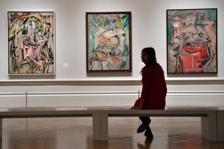 Paintings by Dutch American artist Willem de Kooning