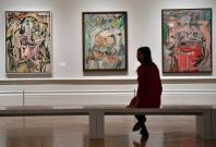 Paintings by Dutch American artist Willem de Kooning