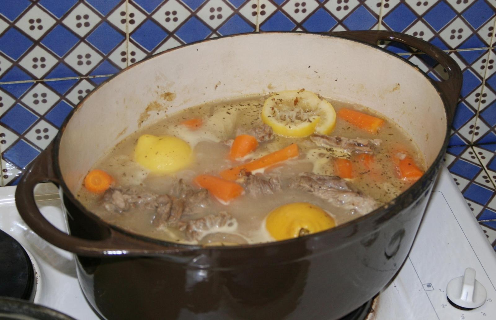 Traditional blanquette de veau