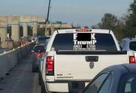 "Offensive ""F*** Trump"" car sticker"