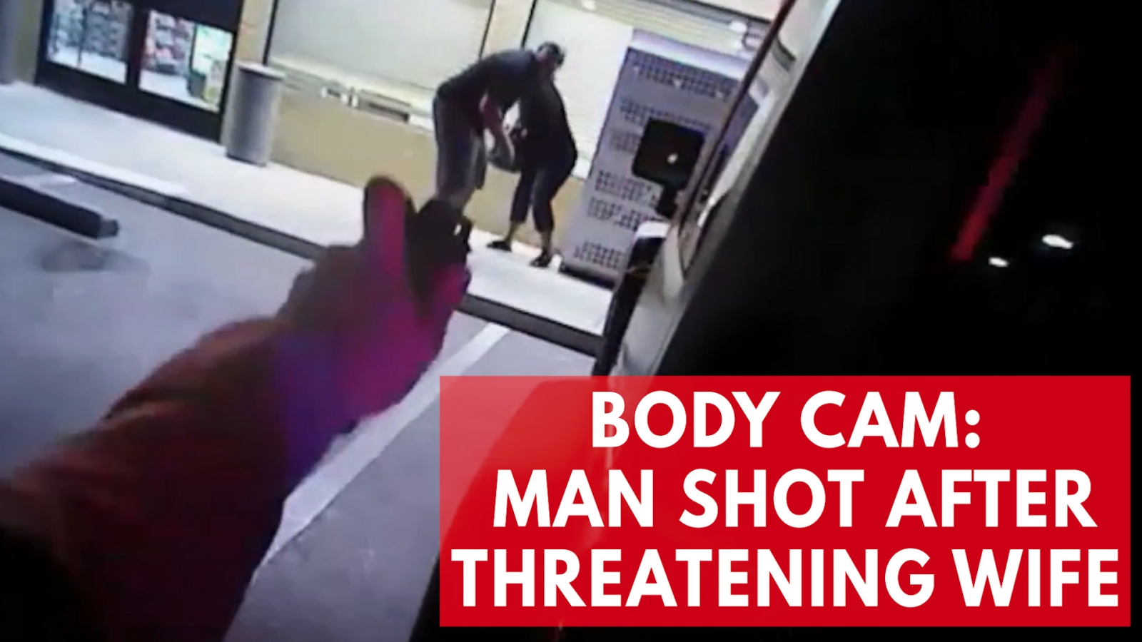 Police body cam footage shows officers shoot man holding wife at gunpoint