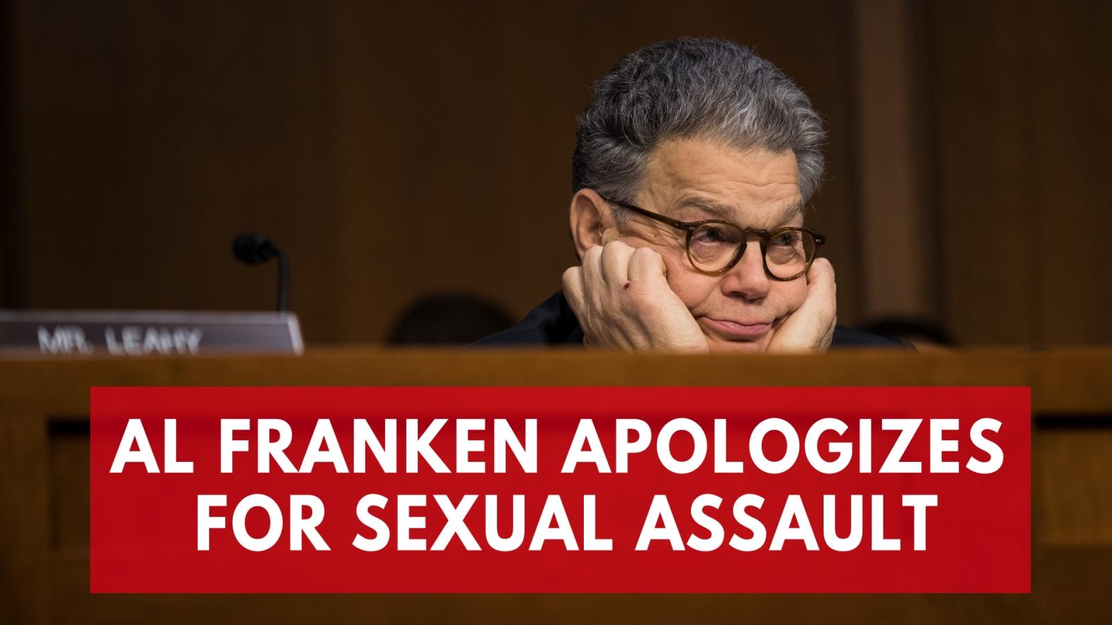 Senator Al Franken apologizes following sexual assault accusations from Los Angeles radio hostLeeann Tweeden