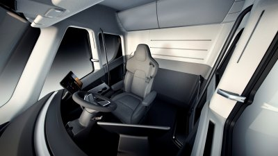 Tesla Semi interior centre seat