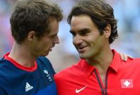 Andy Murray and Roger Federer