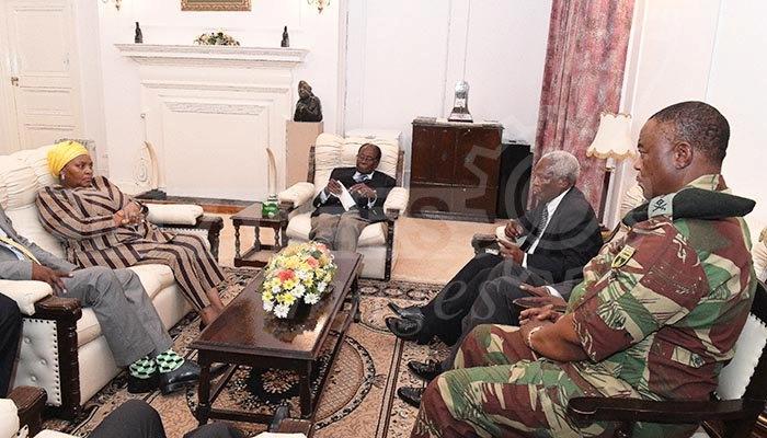 Zimbabwe Military Says Engaging With Mugabe On The Way Forward