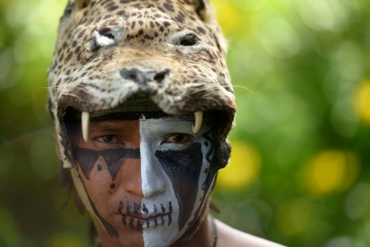 A Mayan man with face paint