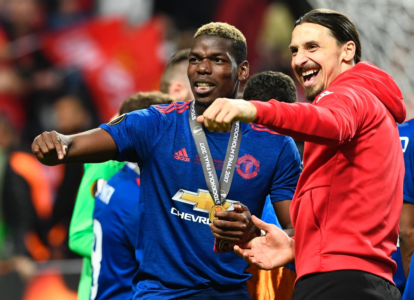 Paul Pogba and Zlatan Ibrahimovic