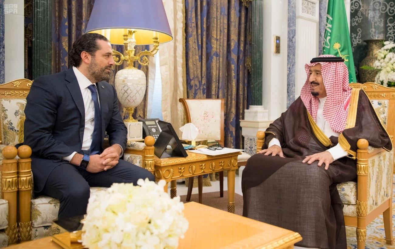 Saad al-Hariri and King Salman