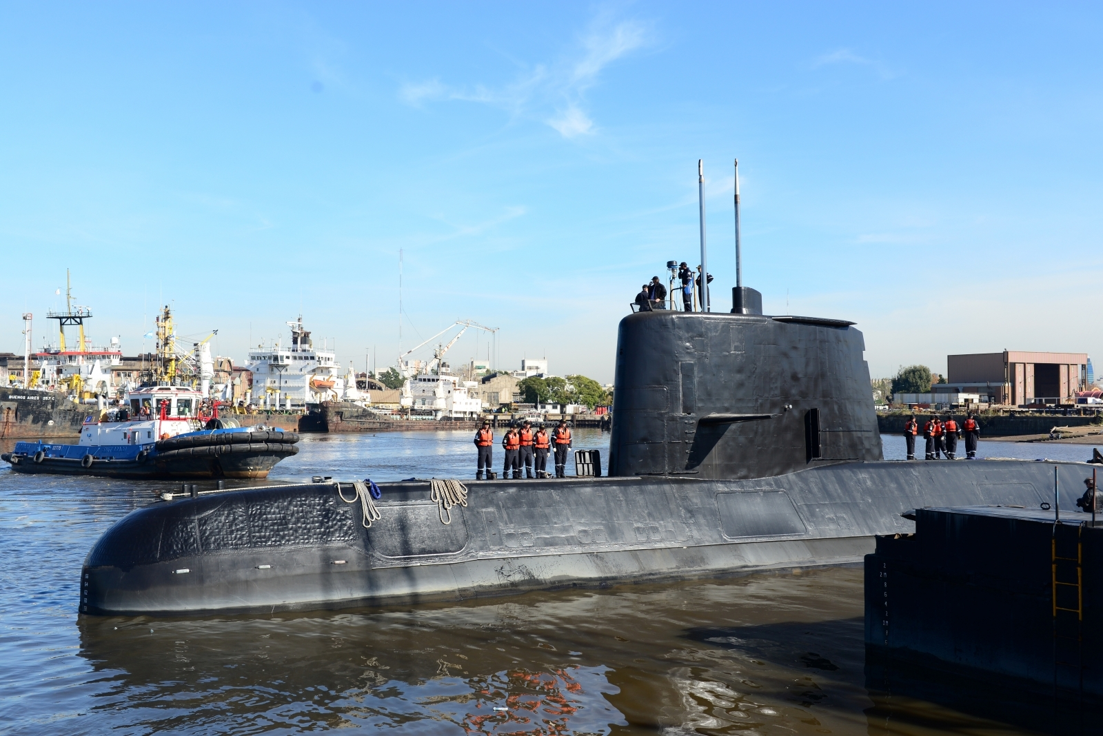 The United States assisted in the search for a missing Argentine submarine
