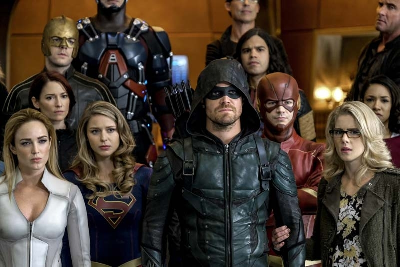 Photos For The CW's Crisis On Earth-X Cross-Over Event