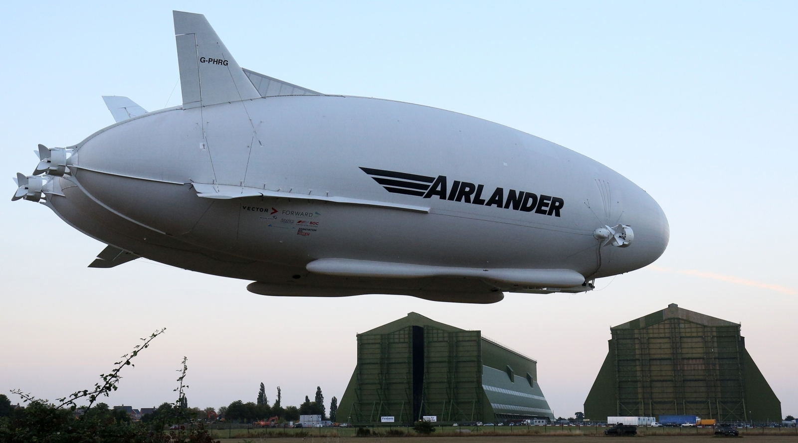 World's largest aircraft breaks free
